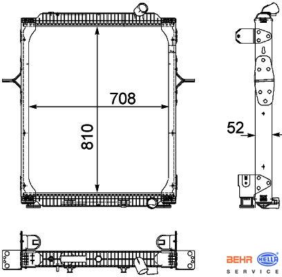 Chladič RVI PREMIUM DXI 370/410/450 (RVI PREMIUM DXI 370/410/450 od r.v. 2005) www.tirshop.sk BEHR
