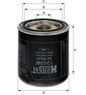 Filter sušiča T280W (pravý závit) www.tirshop.sk HENGST