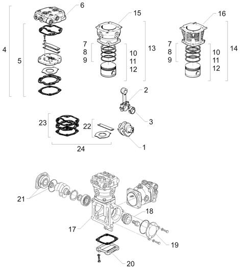 Kompresor 51540007055 (51.54000.7064) www.tirshop.sk