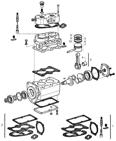 Kompresor TUFLO 500 (TUFLO 600, TUFLO 700) www.tirshop.sk BENDIX