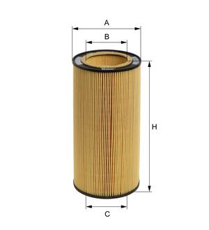 Olejový filter E43H D97 (vložka) (DAF/85CF/XF95) www.tirshop.sk HENGST