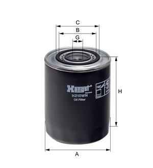 Olejový filter H210WN (IVECO/RVI) www.tirshop.sk HENGST