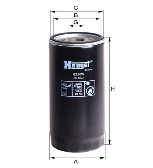Olejový filter H230W (IVECO/IRISB/EUROSTAR/EUROTECH/EUROTRUCKER/STRALIS/) www.tirshop.sk HENGST