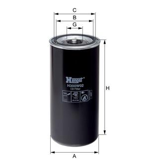Olejový filter H300W02 (DAF/85CF/95XF/) www.tirshop.sk HENGST