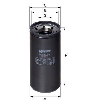 Olejový filter H300W03 (DAF 95XF) www.tirshop.sk HENGST