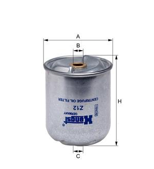 Olejový filter odstredivý Z12 D64 (DAF/85CF/95XF/CF85/XF95) www.tirshop.sk HENGST