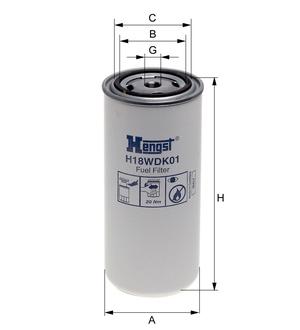 Palivový filter H18WDK01 (DAF/ IVECO) www.tirshop.sk HENGST