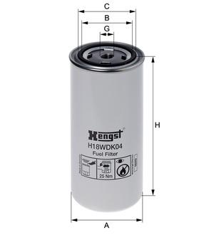 Palivový filter H18WDK04 (DAF/95XF EURO 3) www.tirshop.sk HENGST