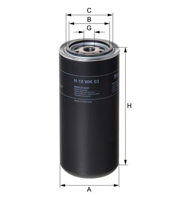 Palivový filter H18WK03 (VOLVO) www.tirshop.sk HENGST