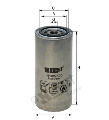 Palivový filter H18WK05 (DAF/ IVECO) www.tirshop.sk HENGST