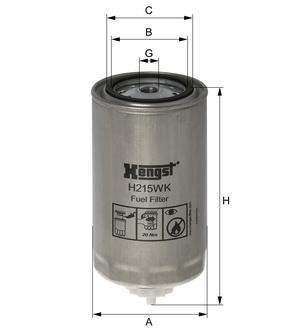 Palivový filter H215WK (separátor vody) (IVECO/STRALIS/EUROTRAKKER) www.tirshop.sk HENGST