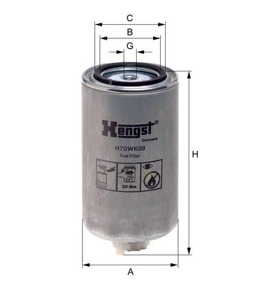 Palivový filter H70WK09 (IVECO/EUROCARCO/EUROSTAR/EUROTECH/EUROTRAKKER/STRALIS/TRAKKER) www.tirshop.sk HENGST