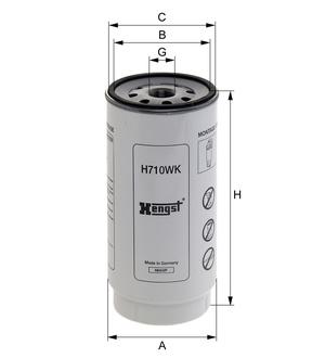 Palivový filter H710WK (separátor vody) (DAF/95XF/CF75/85/XF105/95) www.tirshop.sk HENGST