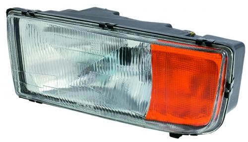 Sklo svetlometu  MERCEDES ATEGO/ACTROS/ AXOR (L) (oranžová smerovka) www.tirshop.sk AYFAR