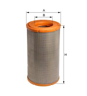 Vzduchový filter E366L (DAF/95XF 380/430/480/530/CF75/85/XF95) www.tirshop.sk HENGST
